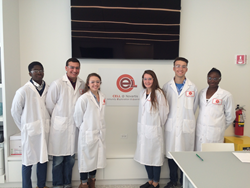 Lexington Christian Academy students at Novartis Biomedical Research
