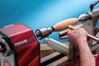 Turn the handles on a lathe - or hand shape from any material you like - the choice is up to you.