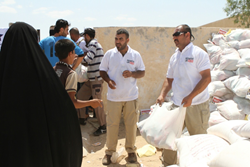 PLC distributes food to ISIS survivors