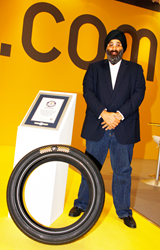 Harjeev Kandhari, CEO of Zenises, creator of the most expensive tyre of the world