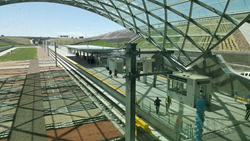 University of Colorado A Line Station at Denver International Airport