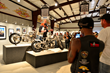 Guests take in the amazing customs at the 2015 Motorcycles As Art exhibit curated by Michael Lichter