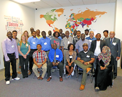 The 2016 graduating class of Salt Lake Community College Miller Business Resource Center's Refugee Leadership Training program.