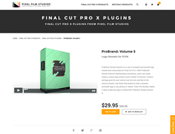 Final Cut Pro X Plugin - ProBrand Reveal Volume 5 - Pixel Film Studios
