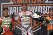 Monster Energy Sweeps the Harley-Davidson Flat-Track Competition at X Games Austin 2016. Jared Mees, Kenny Coolbeth, Jr. and Brad Baker take Gold, Silver and Bronze, respectively.