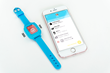 Parents can easily program reminders from their smartphone to display on their kid's watch