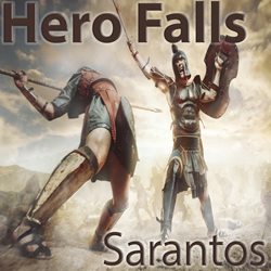 Sarantos song artwork Hero Falls solo music artist Voice of Chicago new pop rock free release The Trevor ProjectSarantos song artwork Tired Of Being Scared solo music artist Voice of Chicago new pop rock free release Star Wars Force For Change