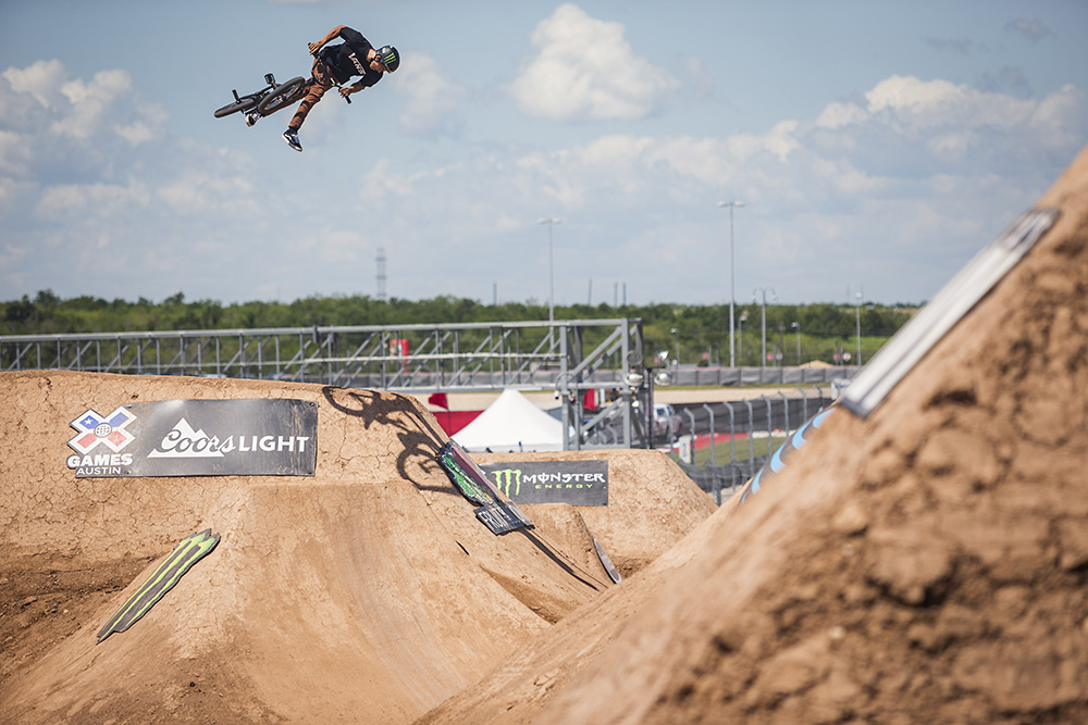 Clean Sweep for Monster Energys Kevin Peraza Gold BenX Games Bmx Dirt