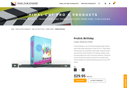 Pro3rd Birthday - Pixel Film Studios Plugin - FCPX