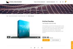 Pixel Film Studios - ProText Parallax - FCPX Plugin