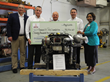 DEUTZ Corporation president and CEO presents seven DEUTZ diesel engines to Gwinnett Technical College.