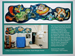 The hospital murals create an environment that is less stressful for the children receiving treatments.