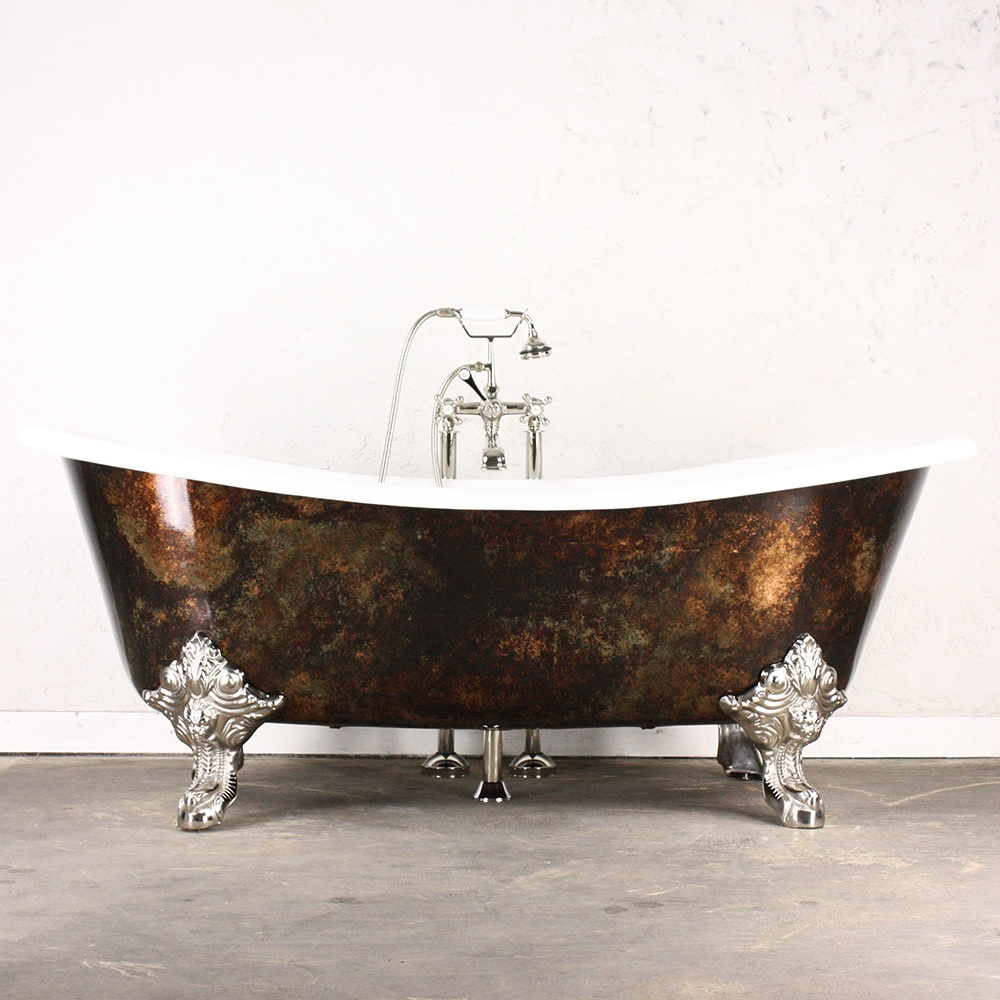 Penhaglion inc presents the new copper tones series of for Copper claw foot tub