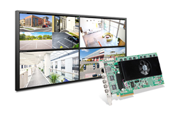 The new Matrox Mura™ IPX 4K IP decode and display card offers H.264 decoding of one 8K, up to two 4Kp60, four 4Kp30, eight 1080p60, sixteen 1080p30 or many more SD streams