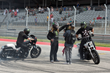 Monster Energy's sponsored Unknown's Harley riders Nick Leonetti, Buddy Suttle, Kade Gates, and Logan Lackey were in Austin doing their incredible wheelie and smoke show for ESPN cameras and the X Gam