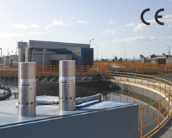 EXAIR's Stainless Steel Cabinet Cooler operating in a hot, harsh chemical environment