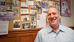 Professor Daniel Czitrom in his office