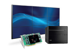 Shuttle's XPC SH170R6 Cube PC bundled with Matrox's C900 nine-output graphics card is ideal for digital signage installations and control room video walls
