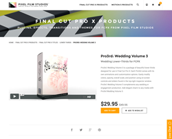 Pro3rd Wedding Volume 3 - Final Cut Pro X - Pixel Film Studios Plugin