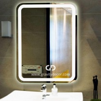 THE NIGHT LIFE - Rounded Wall Mounted Vanity Mirror With LED Lighting