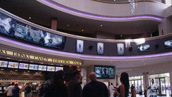 Regal LA LIVE Lobby Domination featuring Samsung Displays