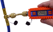 Uniweld's UVG Digital Vacuum Gauge connected to the EZT5B's T-Fitting