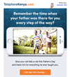 Facebook Contest for Kenyans Worldwide Offers A Prize of up to 101 Minutes to Call Kenya on Father's Day with TelephoneKenya.com