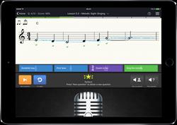 Exercice de chant à vue dans EarMaster