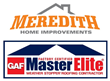 Meredith Home Improvements Gets GAF Master Elite Roofing Contractor Status and Offers 60 Months 0% Interest Financing for Qualified Customers