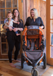 Babierge Founder Kerri Couillard delivers rented baby equipment to traveling mom in Santa Fe