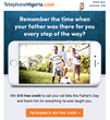 Father's Day Contest on Facebook Brings A Prize of 256 Minutes to Call Landlines and Mobiles in Nigeria with TelephoneNigeria.com