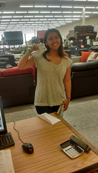 Paige Brackett, Happy Winner of 2 VIP Beyoncé Concert Tickets from Price Busters Discount Furniture
