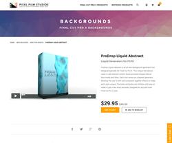 ProDrop Liquid Abstract - FCPX Plugin - Pixel Film Studios