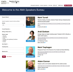 American marketing Association Speakers Bureau