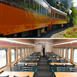 Exterior and Interior of First Class Passenger Cars at Mt. Rainier Railroad and Logging Museum