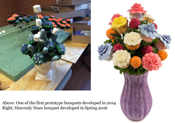 One of the first prototype bouquets developed in 2014 with heavenly Hues from 2016