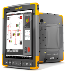 Mesa 2 Rugged Tablet with Progea's Movicon 11 SCADA software
