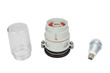 Strobe or Steady Burn LED Light Fixture Equipped with a 7 watt LED Lamp