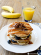 Produce for Kids' Blueberry Banana Pancakes (Recipe: http://www.produceforkids.com/meal-planning/blueberry-banana-pancakes)