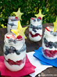 Produce for Kids' Fireworks Parfait (Recipe: http://www.produceforkids.com/meal-planning/fireworks-parfait)