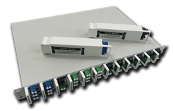 The NG-PON2 module delivers 4 wavelength pairs to provide up to 40Gbps of bandwidth.