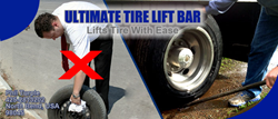 Ultimate Tire Lift Bar is a utility patent created to make changing tires easy.