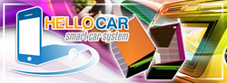 Hello Car, an electronic invention that allows smart phones and tablets to be used as a sound system and more for vehicles.