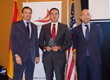 Lauro Bravar, President of the Spain-US Chamber, Armando Hernandez, President and CEO of Hernandez & Company, CPAs, Jaime Garcia-Legaz, Spain Secretary of State for Trade