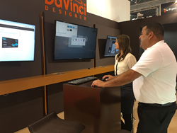 DaVinci Designer booth at Drupa 2016
