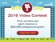 Five $20,000 Playground Grants to Be Awarded in 2016 Let's Play Video Contest