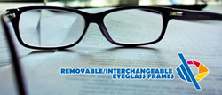 The Removable Interchangeable Eyeglass Frame is an eyewear invention designed to provide a great deal of style opportunities for eyeglass wearers.