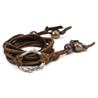 Twig-wrap brown bracelet