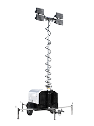 2,000 Watt Mobile LED Light Tower with Diesel Engine Generator