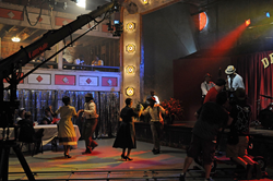 Dreamland Ballroom during filming by AETN.